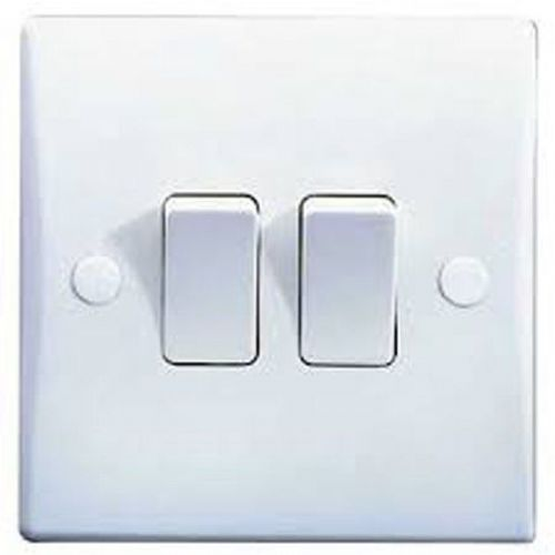 2 Gang 2 Way 10AX Switch GET Schneider GU1022 Ultimate Moulded White Plastic